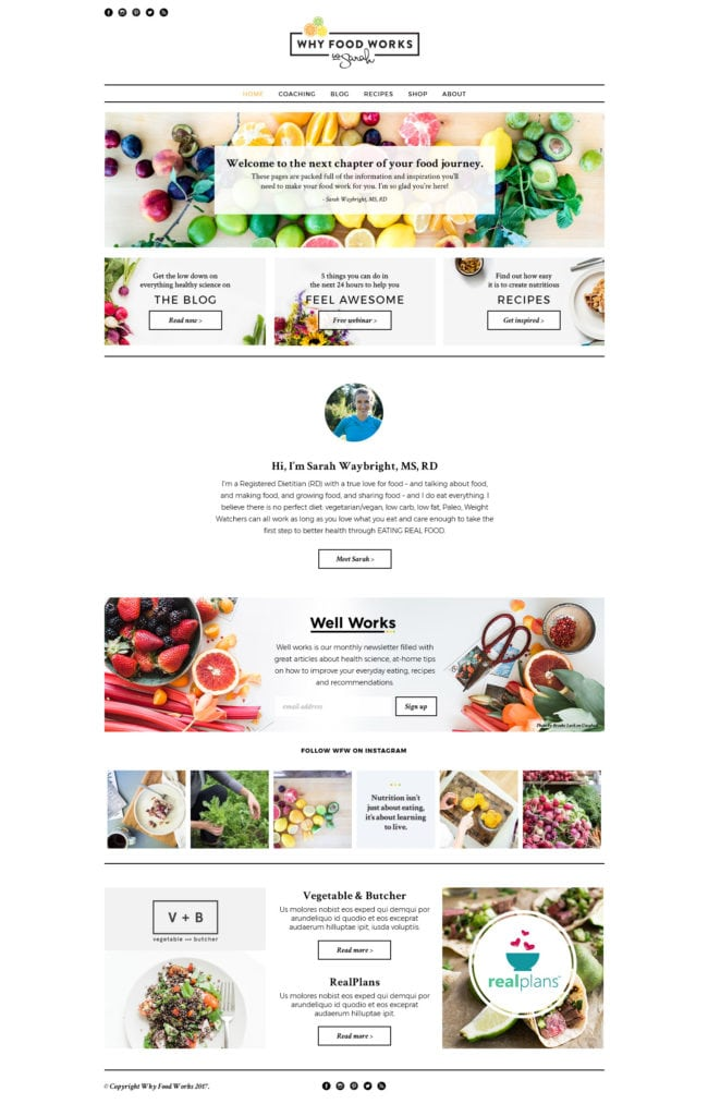 Why Food Work New Website Design