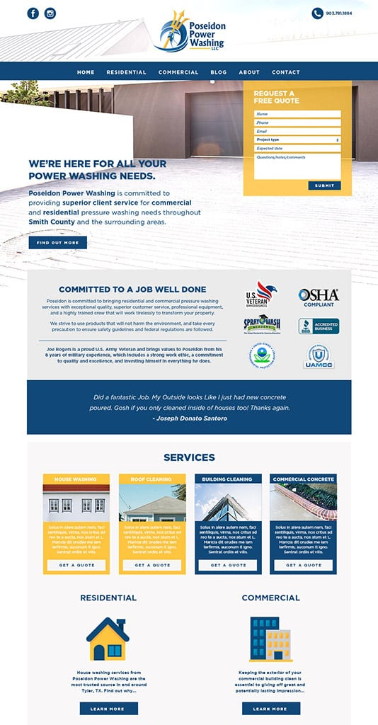 Palm Bay FL Contractor Web Design
